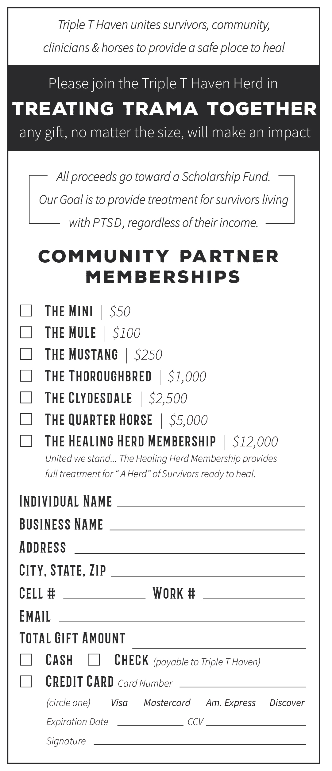 Wild West Night Out - Pledge Card